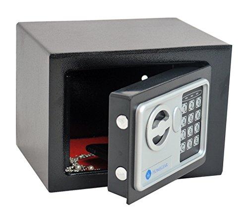 Homegear Small Electronic Safe Gun Money Passport Home Hotel Office Wall Cabinet Photo #5