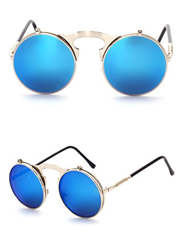 GCC Marco de Metal de de B Gafas Retro Sol Redondo Cubierta Gafas r6wqrZO4za