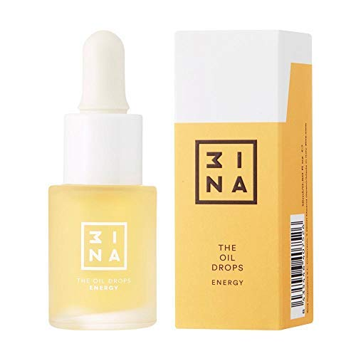 3INA Makeup The Oil Drops - ENERGY, Revitalizes and Tones Tired Complexion with Monoi De Tahiti and Cranberry Oil - Vegan