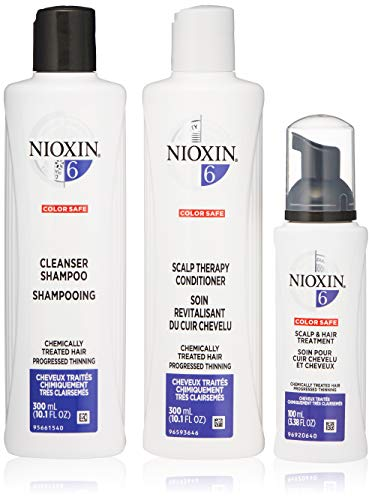 Nioxin Hair Care Kit System 6 for Chemically Treated Hair with Progressed Thinning, 3 Count from Nioxin