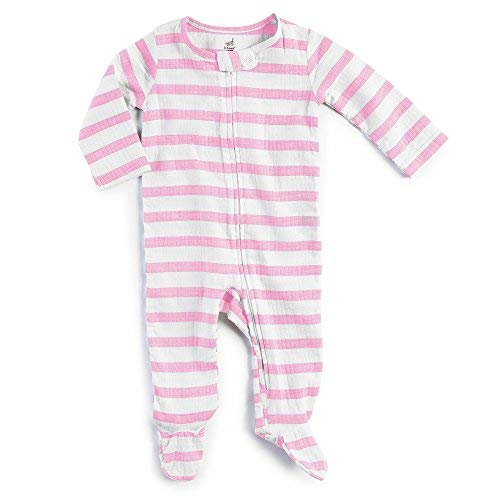 - aden by aden + Anais Baby Long Sleeve Zip One-Piece, Darling Stripe, 3-6M
