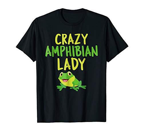 Tshirt for Women Girls who Love Frogs Crazy Amphibian ()