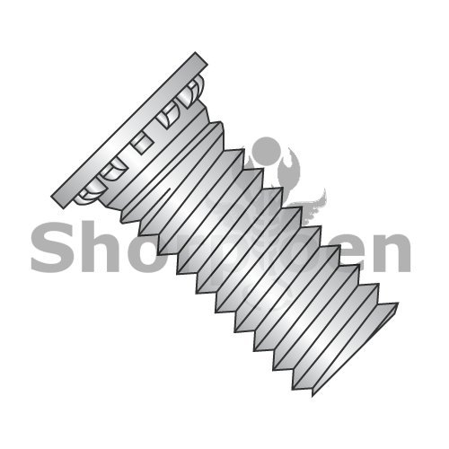 Self Clinching Stud 12 Rib Fully Threaded 300 Series Stainless Steel 10-32 x 1 1/4 BC-1120SCN300 (Box of 6000) weight 47.7 Lbs by Shorpioen