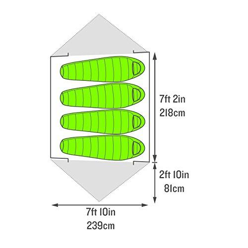 Kelty TN 4 Tent, Grey/Green