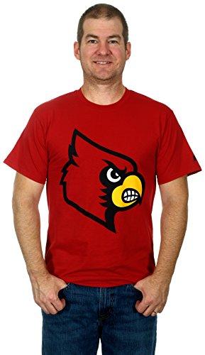 University of Louisville Cardinals Men's Short Sleeve Cotton T-Shirt (Medium)