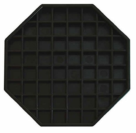 Update International (DT-6X6) Octagonal Plastic Drip Tray (Coffee Tray Container)