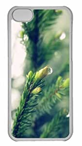 Customized iphone 5C PC Transparent Case - Wet Spruce Twigs Personalized Cover