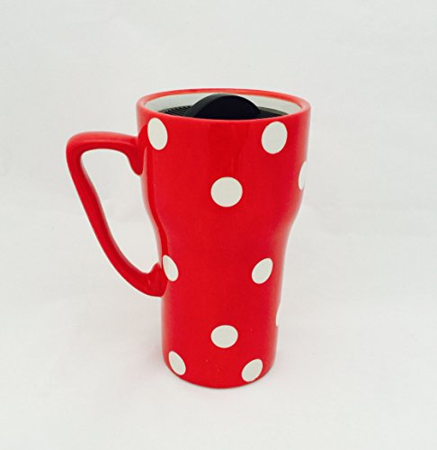 Polka Dots Travel Mug Color: Red