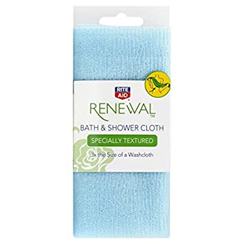 Rite Aid Renewal Bath Shower Cloth Specially Textured 1