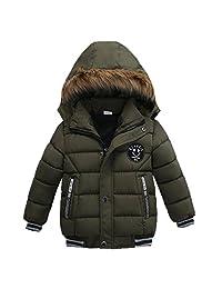 Singleluci Fashion Boys Thick Coat Padded Winter Warm Jacket