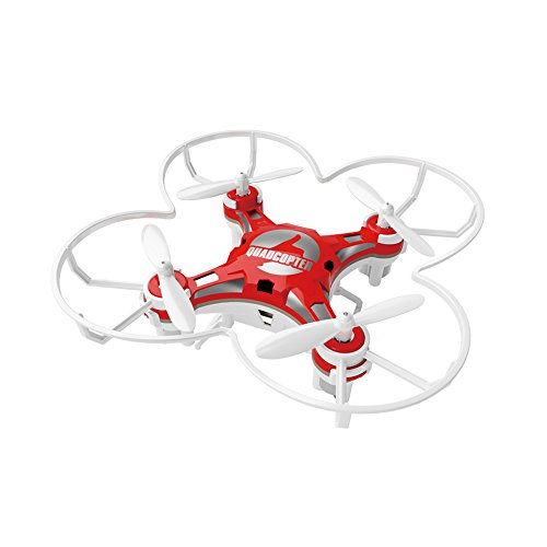 RC Mini Drone, JJRC 4 Channel 2.4GHz 6-Axis Gyro Aircraft Unmanned Pocket Helicopter Model + Headless Mode 3D Roll Remote Control Quadcopter Toys For Adult Kids,by ECLEAR - Red - Spare Parts Halloween Costume
