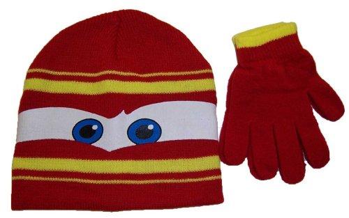 Boys Disney Cars Knit Short Hat and Glove Set [4009]