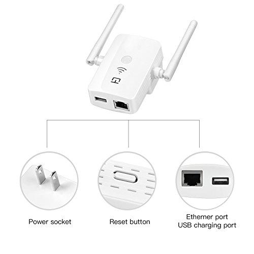 wifi extender lopoo wifi repeater wall plug wireless