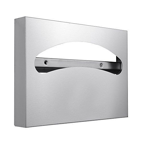 Toilet Seat Cover Dispenser - 304 Grade Stainless Steel - 250 Single or 1/2 Fold Capacity - by Dependable Direct