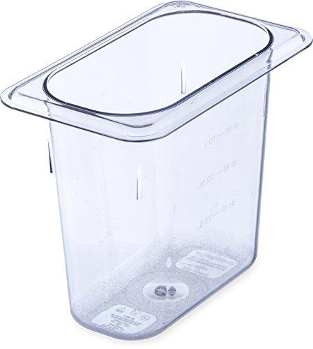 - Carlisle 3068807 StorPlus Ninth Size Food Pan, Polycarbonate, 6