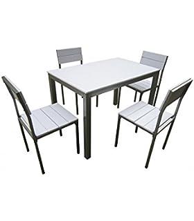 KITKAY Conjunto Oferta de Mesa de Cocina + 4 sillas: Amazon.es: Hogar