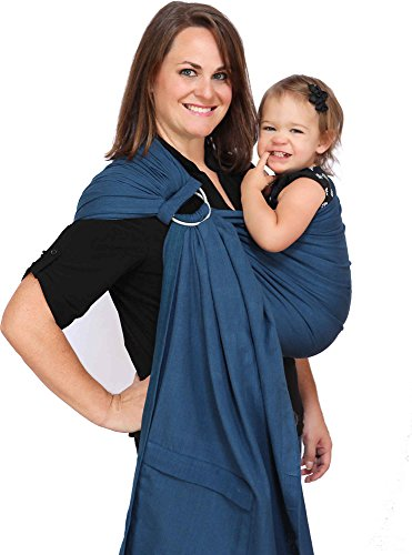Maya Wrap ComfortFit Ring Sling & Baby Carrier - Twilight Blue - Medium