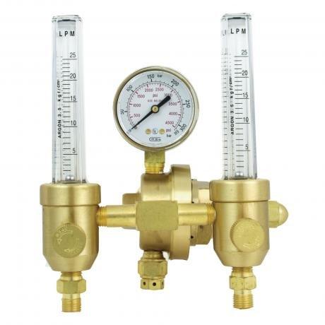 196AR-60 GENTEC Dual Flow meter Regulator by TorchTips DIRECT