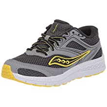 Saucony Boys' Cohesion 12 LTT Sneaker, Grey/Yellow, 12.5 M US Big Kid