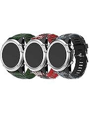 Gransho kompatibel med Garmin Fenix 6X PRO/Fenix 6X Sapphire/Fenix 3 / Fenix 5X Plus/5X Sapphire Watch Strap, Soft Silicone Waterproof Replacement Strap