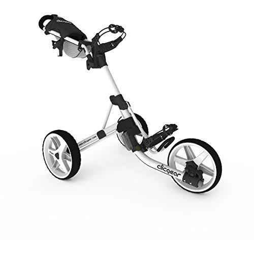 Carro de empuje de golf Clicgear Modelo 3.5+ - Ártico / Blanco