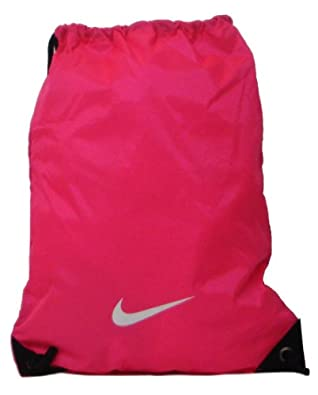 Nike Pink Nylon Drawstring Gymsack. - Pink Flash - UK 1: Amazon.co ...