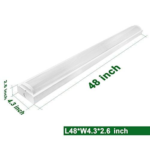 Commercial Garage Lighting: Hykolity 4FT LED Wraparound Flush Mount Ceiling Light 40W