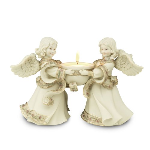 Pavilion Gift Company Sarah's Angels Tapestry Series Friend Angels Tea Light Holder, 5-1/2 Inch
