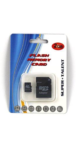 Super Talent 2 GB MicroSD Flash Memory with SD Adapter MSD2GBST/R (Super Microsd Talent)