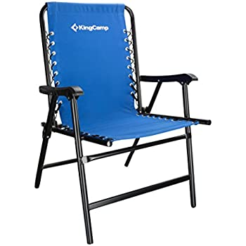 KingCamp Camping Chair Folding Lawn Sports Suspension Backrest Chair Patio  Lounge Backyard Chair Fishing Chair,