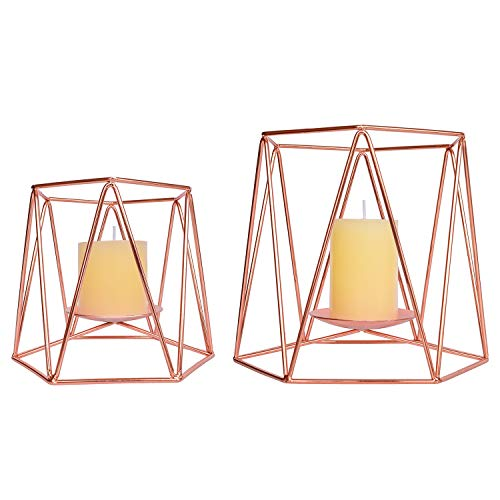 Le Sens Amazing Home Large Rose Gold Metal Pillar Candle...