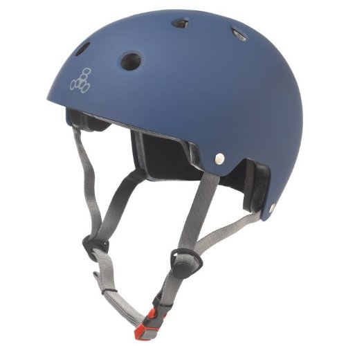 Triple Eight Dual Certified Bike and Skateboard Helmet, Blue Matte, Large / X-Large