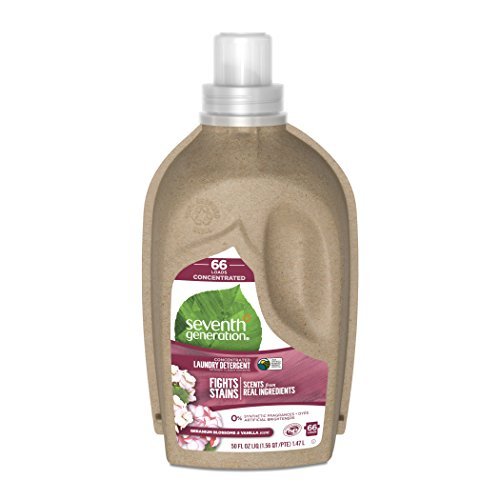 - Seventh Generation Concentrated Liquid Laundry Detergent, Geranium Blossoms and Vanilla, 66 loads, 50 oz (Packaging May Vary)