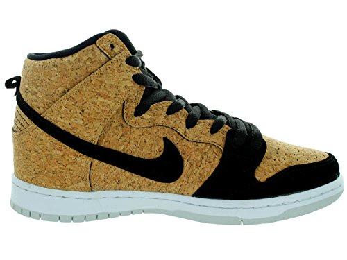 Nike Herren SB Dunk High Premium Skate Schuhe Schwarz / Schwarz / Haselnuss / Weiß