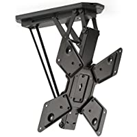 Displays2go Motorized Ceiling Television Mount, Steel – Black (LMCEMOT55)