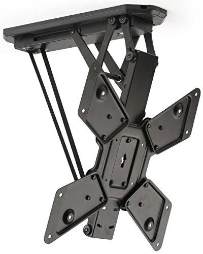 Displays2go Motorized Ceiling Television Mount, Steel – Black (LMCEMOT55)