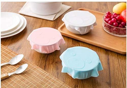 Almacenamiento De Alimentos Wrap Saran Wrap De Silicona Reutilizable Plastico Transparente De Almacenamiento De Alimentos Frigorifico Placa De Cocina De Vacio Sellador Tapa Cubierta De La Cavidad