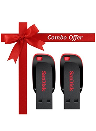 SanDisk ShopyBucket Cz50 USB Flash Drive USB 2.0 Support Official Verification Pendrive, 16GB and 32GB – Pack of 2