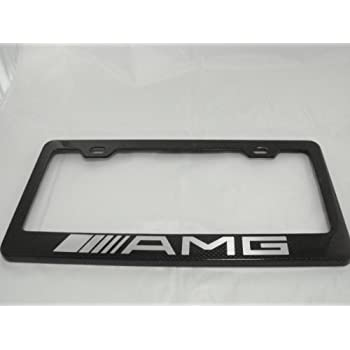 Amazon Com Mercedes Benz Amg Carbon Fiber License Plate