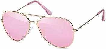 Pilotenbrille für Kinder aus Edelstahl Aviator - UV 400 Filter und CE-Prüfzeichen