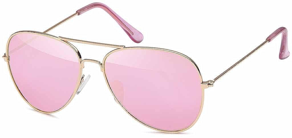Pilotenbrille für Kinder aus Edelstahl Aviator - UV 400 Filter und CE-Prüfzeichen N548