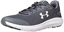 Under Armour Unisex-Youth Grade School Surge 2 Sneaker, Pitch Gray (101)/White, 7