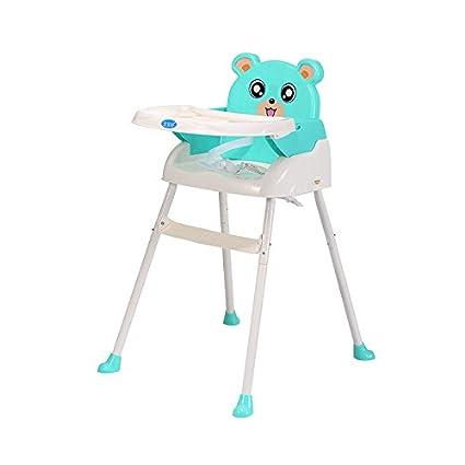 Trona de bebé plegable 4 en 1 con bandeja para cinturón de seguridad, asiento ajustable