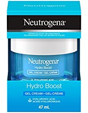Neutrogena Hydroboost Facial gel-cream with hyaluronic acid, hydrating face moisturizer, Dermatologist Recommended, 47mL