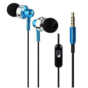 Aobiny Earphone 3.5mm Super Bass Stereo In-Ear Earphone Headphone Headset For Tablet MP3 (Blue)