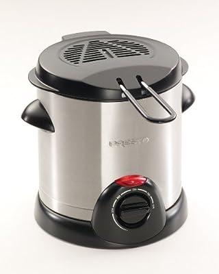 Presto 05471 1000-Watt 1-Liter Stainless-Steel Electric Deep Fryer