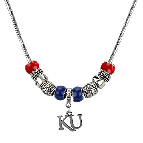 Kansas Jayhawks Silver Tone Red and Blue - Tone Accent Beads Shopping Results