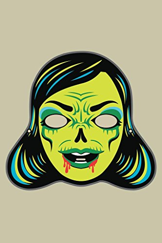 Laminated Zombi Lady Vintage Mask Decoration or Halloween Costume Cutout Sign Poster 12x18 inch ()