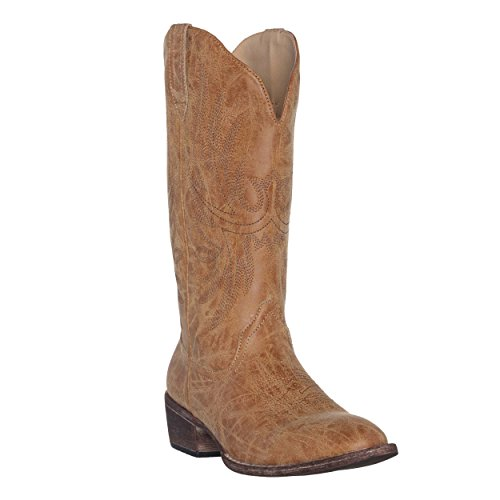 Women's Western Cowgirl Cowboy Boot | Brown Cimmaron Round Toe by Silver Canyon ()