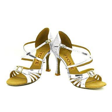 Zapatos baile Tacón baile Zapatos Latino Oro de Salsa Rojo Negro Personalizables 4d2a58